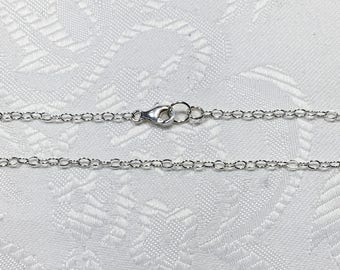 """Sterling Silver Chain 18"""""""