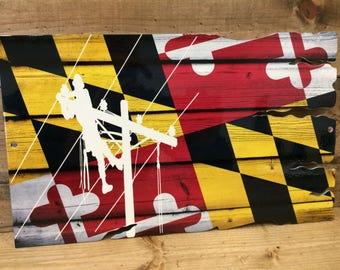 Maryland lineman flag