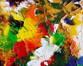 Garden Floral Abstract Original Painting