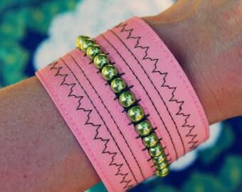 Cuff Bracelet, Upcycled Bracelet, Fabric Bracelet, Bohemian Bracelet, Upcycled Jewelry, Bohemian Jewelry, Sustainable Jewelry, Boho Jewelry