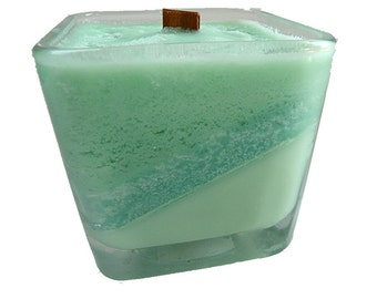 Cool Mint Wooden Wick Candle