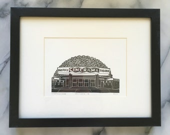 Hollywood Cinerama Dome, Framed Print