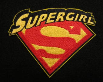 Embroidered Supergirl Iron On Patch, Supergirl, Superman, Iron On Patch, Iron On Applique, Supergirl Applique