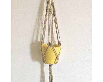 Home décor,Macrame plant hanger,pot hanger,Great Gift Ideas - linen - Inside - Outside - 18 inches ,3 mm...