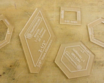 Acrylic Templates for English Paper Piecing