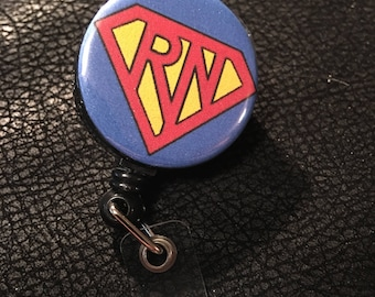 Registered nurse RN super name badge holder