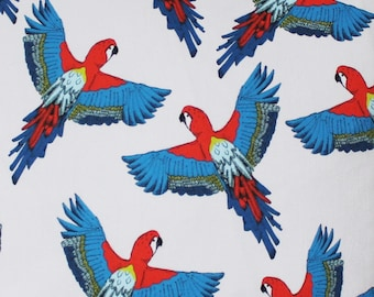 Parrot Fabric - fabric by the metre - upholstery fabric - curtain fabric - bird fabric - tropicl - parrot - cotton - fabric by the yard