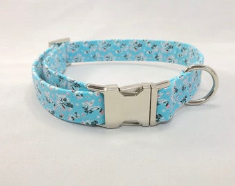 Blue Dog Collar · Floral Dog Collar.· Girl Dog Collar · Boy Dog Collar · Flower Dog Collar · Light Blue Collar · Blue Floral Collar