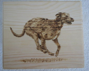 Pet Portrait Treasure Box Hand Painted Made to Order Irish Wolfhound by Pigatopia