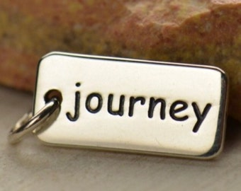 Sterling Silver Word Charm Journey