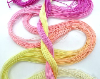 "Size 30 ""Peace"" hand dyed thread 6 cord cordonnet tatting crochet cotton"