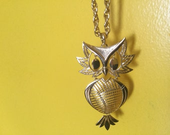 Vintage Owl Necklace by Allen
