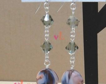 Glass Bead Dangle Earring (V-88)
