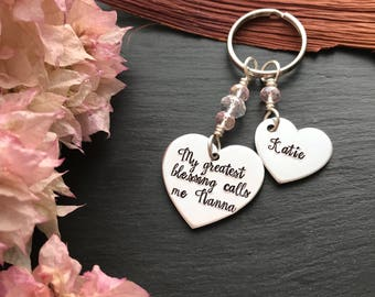 Personalised Gift for Mum - Personalised Gift for Grandma - Hand Stamped Keyring - Gifts for Grandma - Gift for Mum - Gift for her