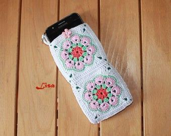 Cell phone holder crochet