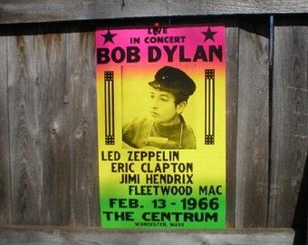 Bob Dylan Concert Poster San Francisco 1969 Expressionism Heavy Cardstock 14x22
