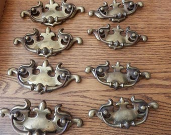 """choice set of four (4) of 3 1/4"""" or 4 1/4"""" centers drawer pulls vintage"""