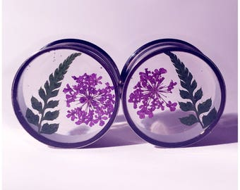 22mm fern and purple lace flower plugs!