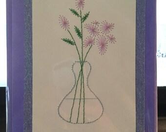 Purple Flowers in Vase