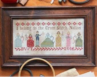 SALE!! Cross Stitch Nation by Heartstring Samplery - cross stitch pattern