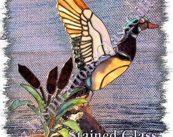 PATTERN: 3D Stained Glass Wood Duck