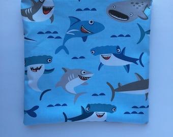 Sandwich Bag - Kids - Back to School - Sharks Sandwich Bag - Lunch Bag - Kids Sandwich Bag - Litterless Lunch - Reusable