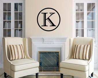 Contemporary Monogram - Personalized Custom Monogram Wall Decals