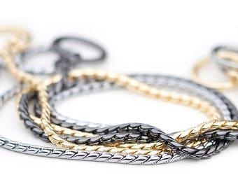 SNAKE CHAIN for show lead | Dog show lead | Choke collar | Show collar | Leather collar | Chain collar | Choke chain