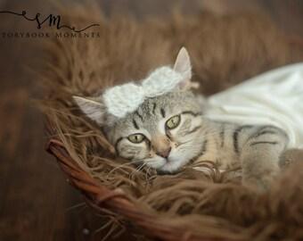 L'arc de Cupidon - Sweet Angel - bébé tricoté arc - la Saint-Valentin - animaux de compagnie à l'arc - Mohair Bow pour les animaux et les bébés - tricoté Mohair noeud