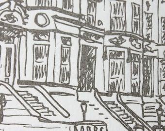 Brooklyn - eight letterpress note cards