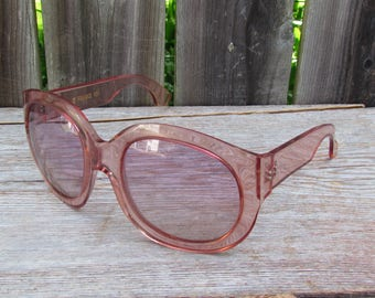 Vintage French Pink Lucite Sunglasses