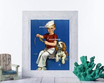 Boy's Room Art, Guest Room Art, Family Room Art, Beach, Ocean Theme Art #499 FREE SHIPPING