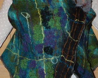 Felted Women vest Merino wool original vest Wearable art