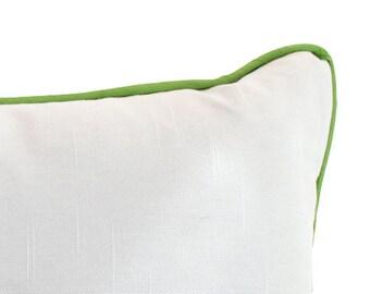 Custom Lumbar Pillow with Piping