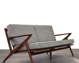 "Mid Century 64"" Sofa"