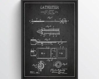 1932 Catheter Patent Art Print, Medical Patent, Home Decor, Gift Idea, ME68P
