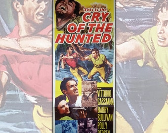 Original Insert Movie Poster  Cry Of The Hunted - Size: 91,5x35,7 CM - 1953
