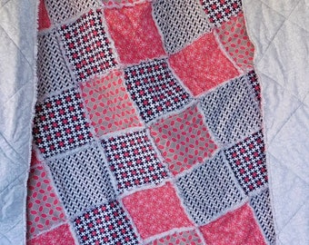 Homemade Quilt - Rag Quilts - Double Size Quilt - Rag Quilt - Rag Bedding - Twin Size Quilt - Throw Quilt - Child Rag Quilt