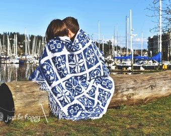 Instant Download, Mediterranean Tiles Throw Crochet PATTERN
