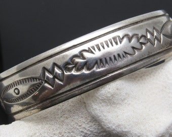 Sterling Cuff Bracelet Native American Signed Jewelry