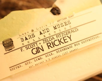F. Scott and Zelda Fitzgerald | Gin Rickey | Bars and Muses | Artisan Soap | Handcrafted Soap