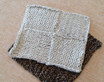 Knit Coasters set of 4 Modern Lines