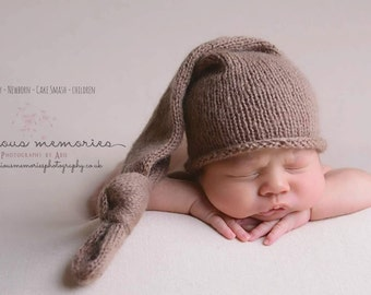 Knitted hat. Newborn hat, Mohair hat. Photo props, Baby hat
