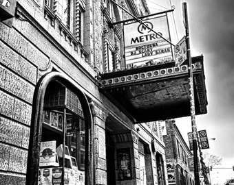 The Metro, Chicago black and white photograph 16x20