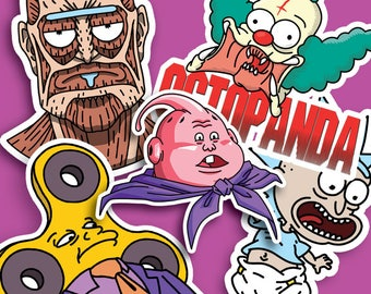 Mixed pack of 5 stickers