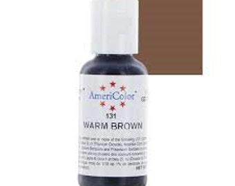 Americolor Warm Brown Gel Paste