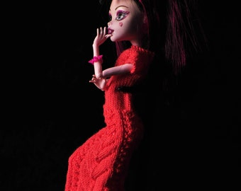 Monster High and EAH doll clothes - summer knitted dress.