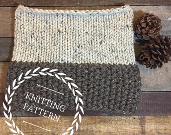 The MOAB cowl pattern/ Knit pattern/ Basic knitting pattern/ Basic knit cowl/ Beginner knitting pattern/ Cowl pattern