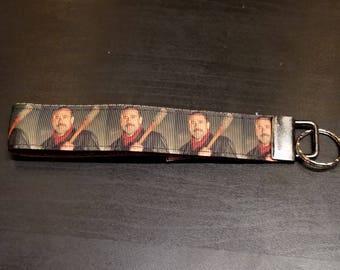 Negan Keyfob, The Walking Dead, Negan, Lucille, Wristlet, Walking Dead, Keychain, Keyfob