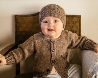 Boston Cardi and Beanie  - Baby Cakes by lisaFdesign - Download Now - Pattern PDF